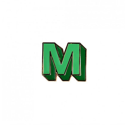 Enamel Pin - Letter M