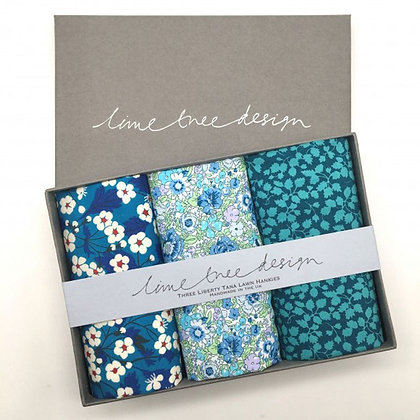 Liberty Print Hankies - Blue