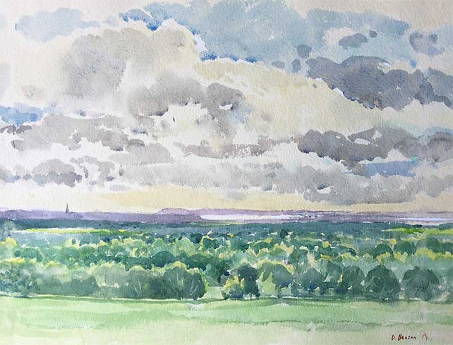 Chichester Plain from Carne's Seat, Goodwood