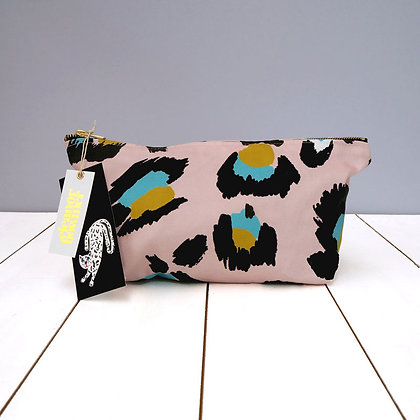 Pink Leopard Wash Bag