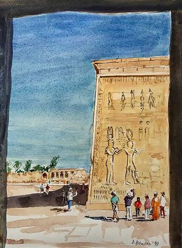 Cleopatra and Caesarion, Dendera