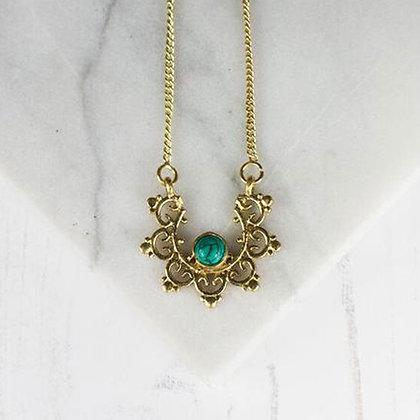 Turquoise Mandala Necklace