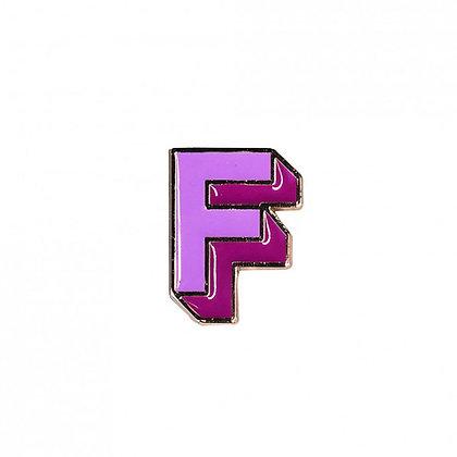 Enamel Pin - Letter F