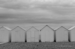beach huts cayeaux sur mer