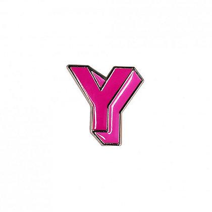 Enamel Pin - Letter Y