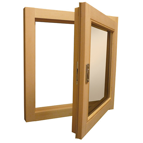 Окно ПВХ 90х90 см ламинированное снаружи