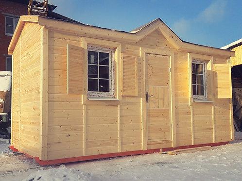 Модульный дом 6х2,3м распашонка без перегородок