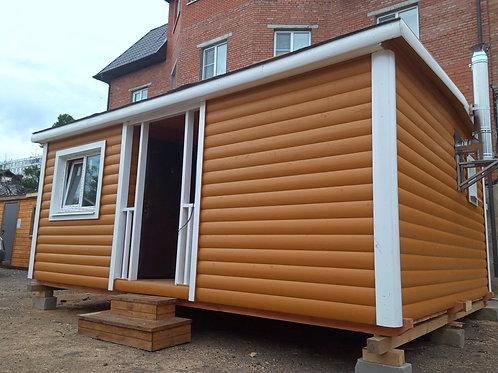 Модульный домик 6х4,6м с банной комнатой