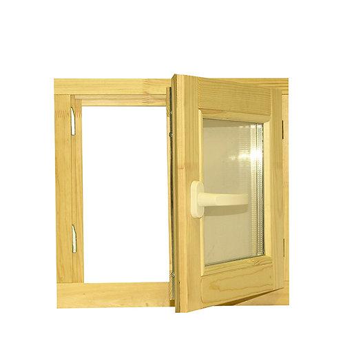 Окно деревянное 90х90 мм (2 стекла) утепленное