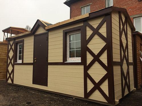 Модульный дом 7х2,3м распашонка с перегородками