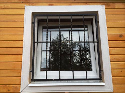 Кованая решетка окрашенная на окно 90х90 см/70х100 см