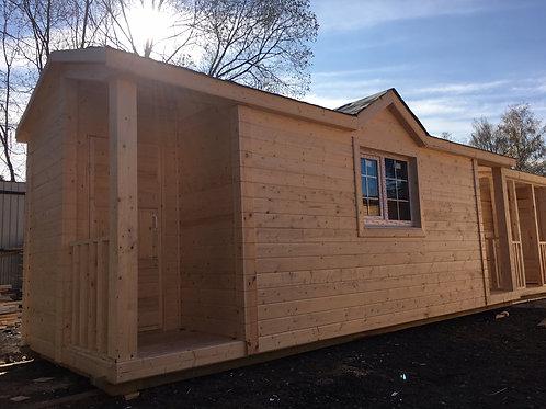 Модульный дом 8х2,3м с душем и туалетом
