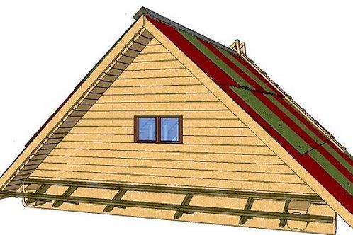 Двускатная форма крыши по торцевой стороне