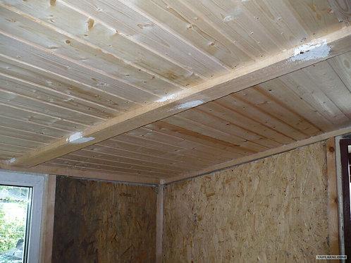 Увеличение высоты потолка в бытовке на 10 см
