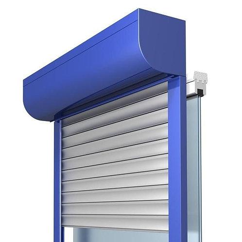 Алюминиевые рольставни на ПВХ окно 90х90 см