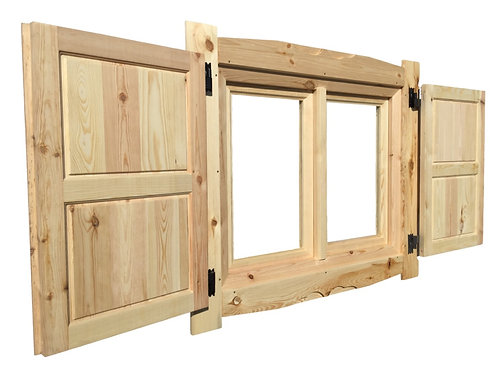 Ставни для окна 90х90 см/70х100 см (2 шт) с проушинами и петлями под замок