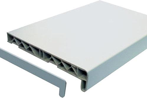 Подоконник белый ПВХ для окна 90х90 см и 70х100 см