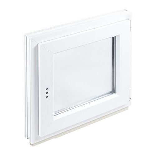 Окно пластиковое (ПВХ) 90х90 мм (2 стекла) утепленное