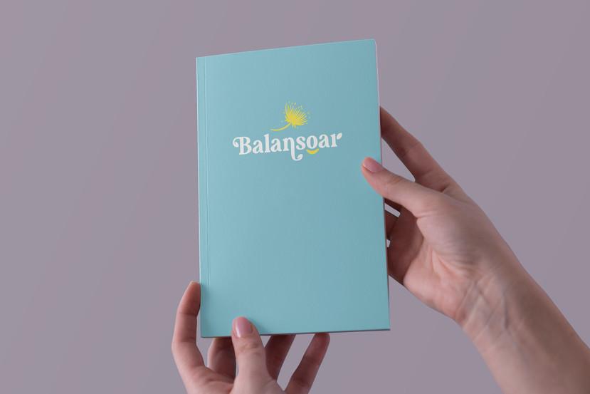 [Balansoar] Hands Holding Notebook Mocku