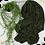 Thumbnail: Châle en jersey koweïtien - Vert bouteille