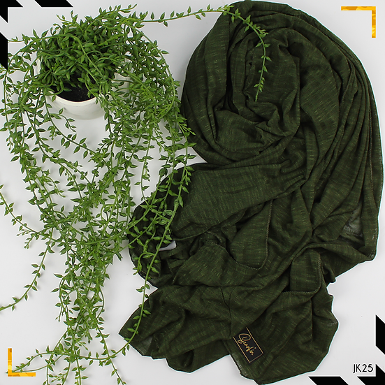 Châle en jersey koweïtien - Vert bouteille