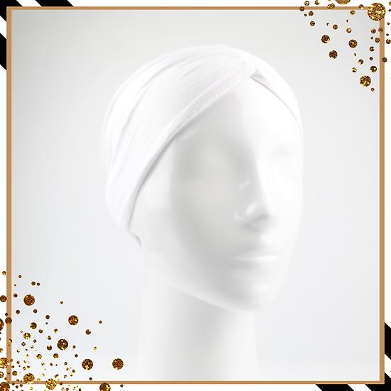 Bonnet underscarf plissé - Blanc