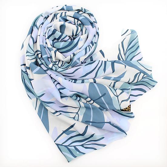 "Châle ""Hermia"" - Bleu gris"