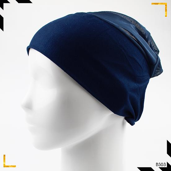 Bonnet underscarf simple - Bleu marine
