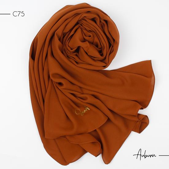 Châle en Crepe Premium - Auburn
