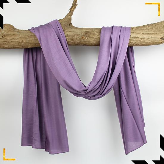Châle en coton jersey - Lilas