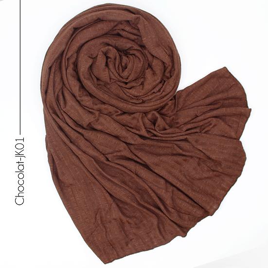 Châle en jersey koweïtien - Chocolat