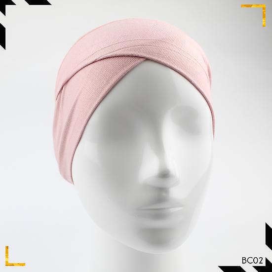 Bonnet underscarf croisé - Rose