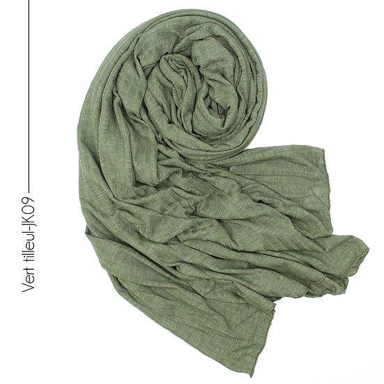 Châle en jersey koweïtien - Vert tilleul