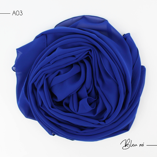 Chiffon Premium - Bleu roi