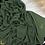 Thumbnail: Châle en crêpe premium - Vert militaire