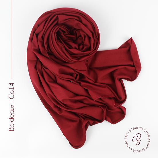 Châle en coton jersey - Bordeaux
