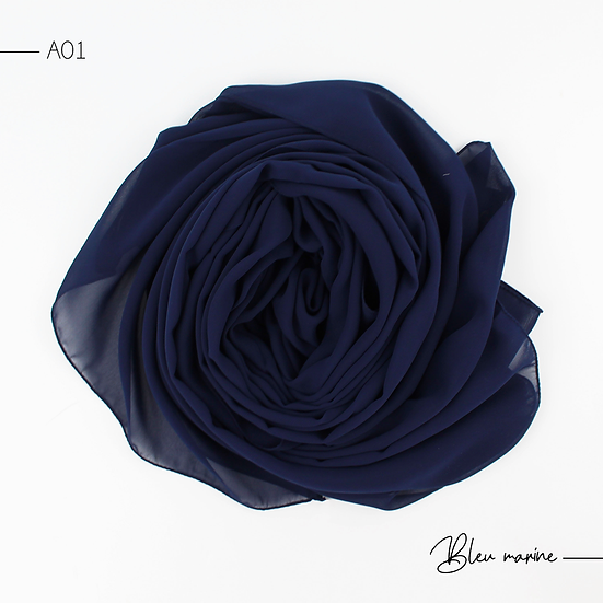 Chiffon Premium - Bleu marine