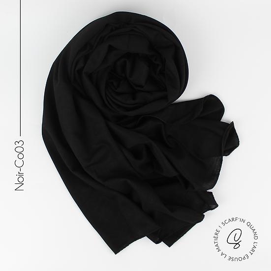Châle en coton jersey - Noir