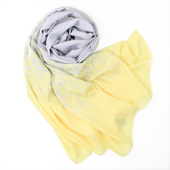 """Châle """"Splashy"""" - Gris et jaune"""