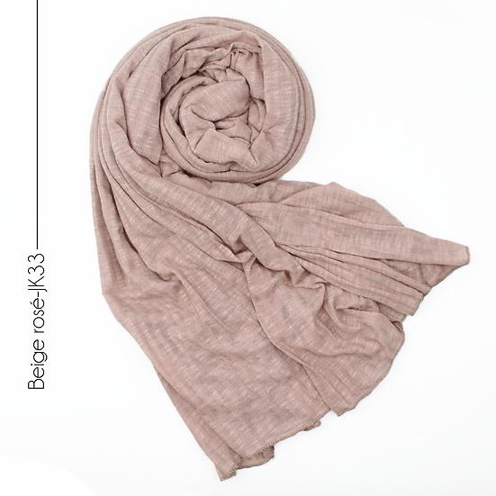 Châle en jersey koweïtien - Beige rosé