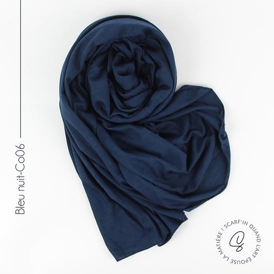 Châle en coton jersey - Bleu nuit