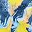 """Thumbnail: Châle """"Stacy"""" - Bleu et jaune"""