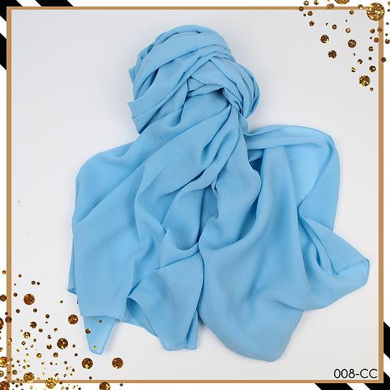 Châle en chiffon côtelé - Bleu ciel