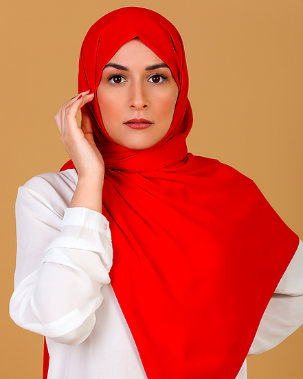 Châle en Crepe Premium - Rouge