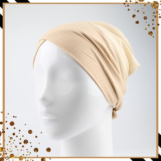 Bonnet underscarf croisé - Beige