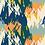 "Thumbnail: Châle ""Mounty"" - Orange, bleu canard, jaune et bleu"