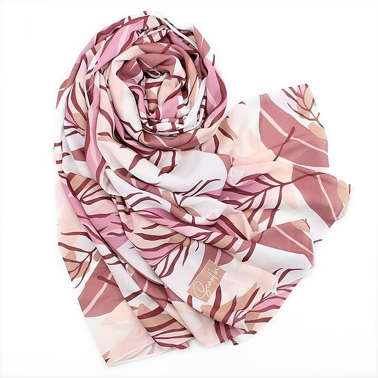 """Châle """"Hermia"""" - Prune et rose"""