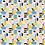 """Thumbnail: Châle """"Capina"""" - Gris, jaune, vert d'eau, bleu"""