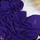 Thumbnail: Châle en crêpe premium - Bleumauve