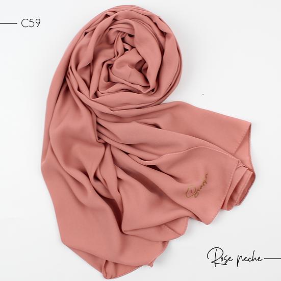 Châle en Crepe Premium - Rose pêche